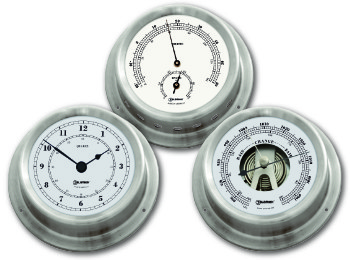 Ship's Instruments Set of Three - Stainless Steel | Talamex Series 125