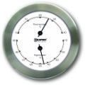 Ship's Thermometer / Hygrometer -  Stainless Steel | Talamex Series 100 Ship's Instruments