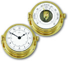 Ship's Instruments Set of Two - Solid Brass | Talamex Series 160