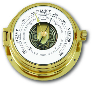 Ship's Barometer - Solid Brass | Talamex Series 160 Ship's Instruments