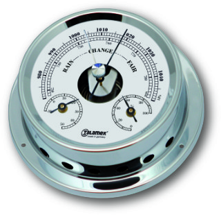 Ship's Barometer / Thermometer / Hygrometer - Chrome Plated Brass | Talamex 125 Ship's Instruments