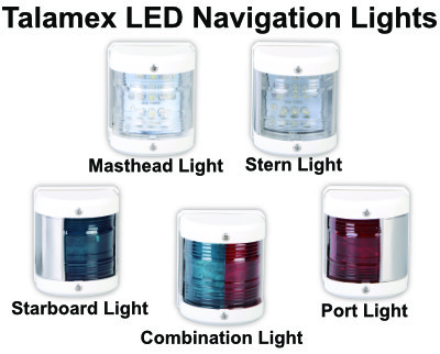 Talamex LED Navigation Lights - White Housing