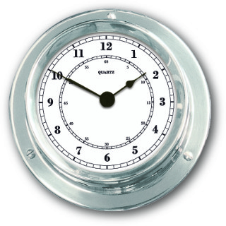Ship's Clock - Chrome Plated Brass | Talamex Series 110 Ship's Instruments
