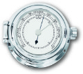 Ship's Barometer - Chrome Plated Solid Brass | Talamex Series 115 Ship's Instruments