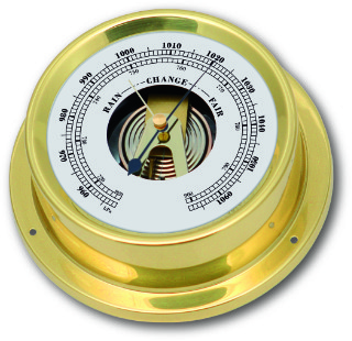 Ship's Barometer - Brass | Talamex Series 125 Ship's Instruments