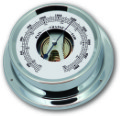 Ship's Barometer - Chrome Plated Brass | Talamex Series 125 Ship's Instruments