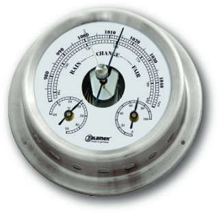 Ship's Barometer / Thermometer / Hygrometer - Stainless Steel | Talamex 125 Ship's Instruments