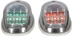 Talamex LED Side Lights Set - Stainless Steel Casing