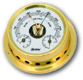 Ship's Barometer / Thermometer / Hygrometer - Brass | Talamex Series 125 Ship's Instruments