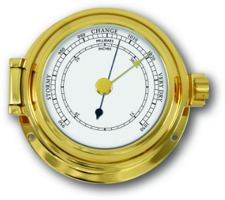 Ship's Barometer - Solid Brass | Talamex Series 115 Ship's Instruments