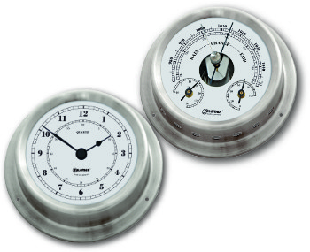 Ship's Instruments Set of Two - Stainless Steel | Talamex Series 125