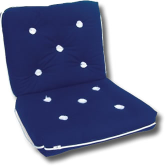 Double Navy Deck Cushion