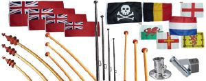 Flags, Flagpoles and flagpole Holders