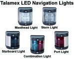 Talamex LED Navigation Lights - Black Housing