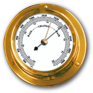 Ship's Barometer - Brass | Talamex Series 110 Ship's Instruments
