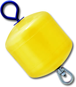 Polyform Norway - MB40 Hard-Shell Foam-filled Rod Buoy - 38cm dia.