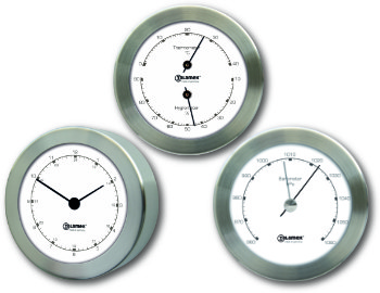 Set of three Ship's Instruments - Stainless Steel |Talamex Series 100