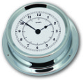 Ship's Clock - Chrome Plated Brass | Talamex Series 125 Ship's Instruments