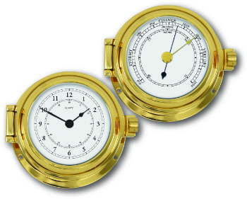 Ship's Instruments Set of Two - Solid Brass | Talamex Series 115